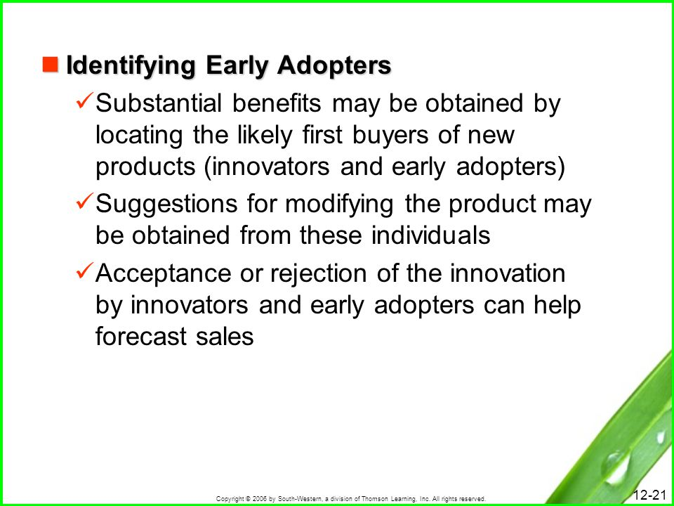 Identifying Early Adopters