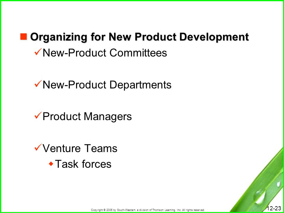 Organizing for New Product Development