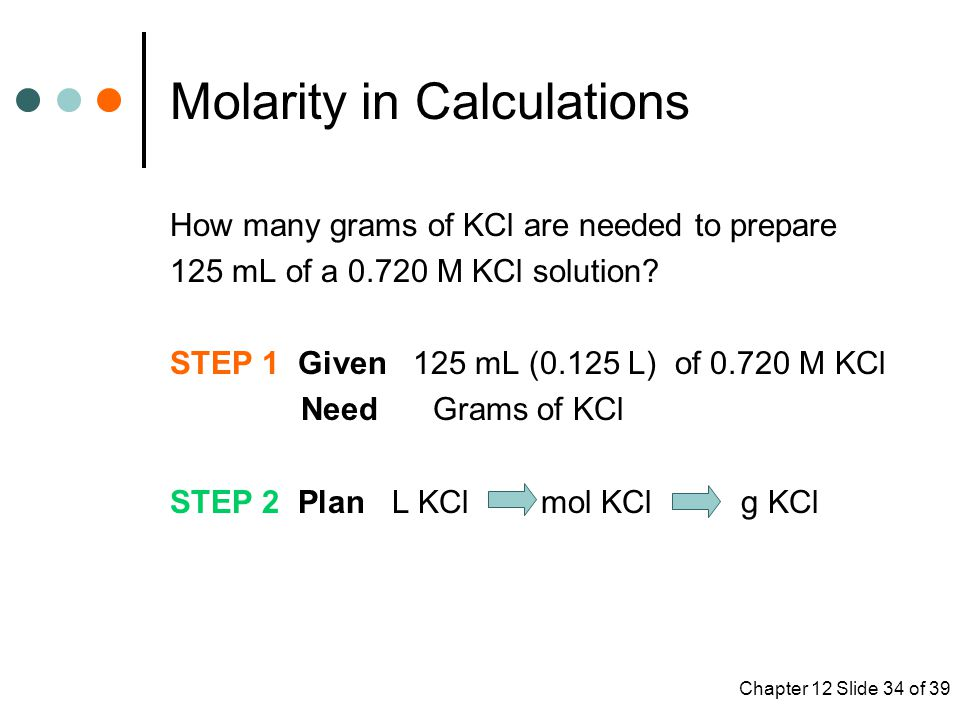 Molarity in Calculations