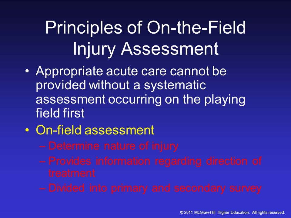 Principles of On-the-Field Injury Assessment