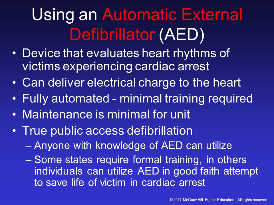 Using an Automatic External Defibrillator (AED)