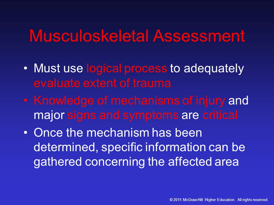 Musculoskeletal Assessment