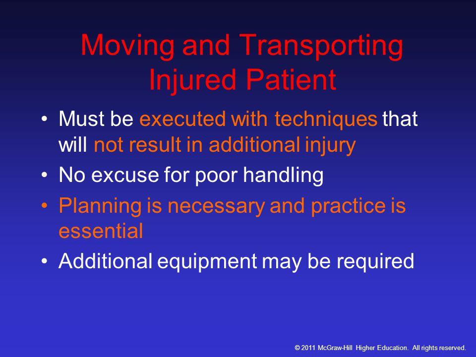 Moving and Transporting Injured Patient