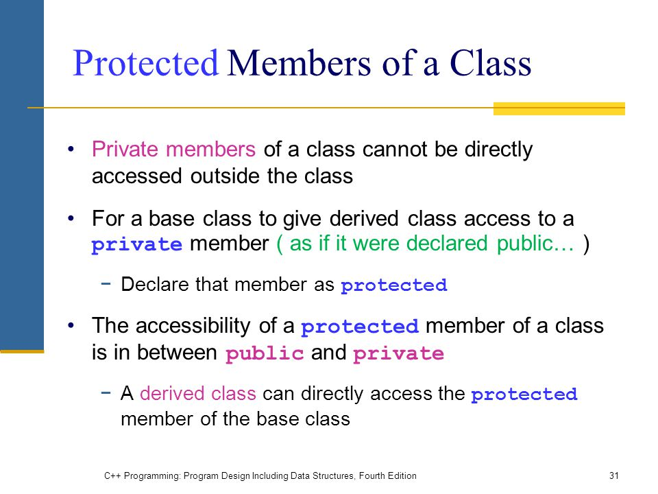 Protected Members of a Class