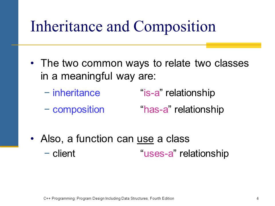 Inheritance and Composition