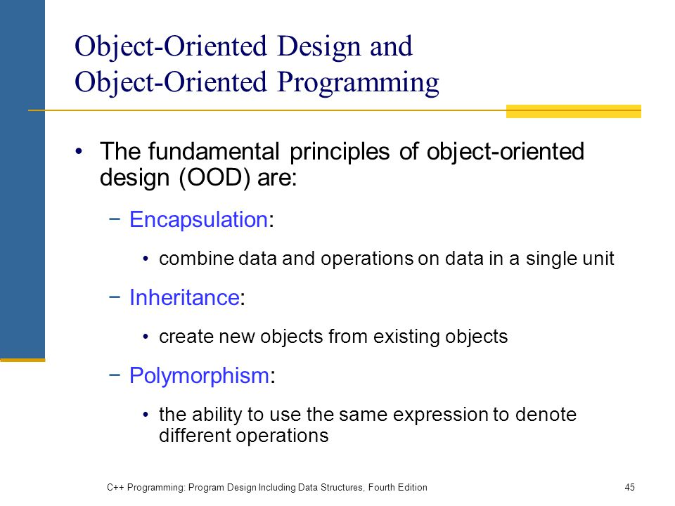 Object-Oriented Design and Object-Oriented Programming