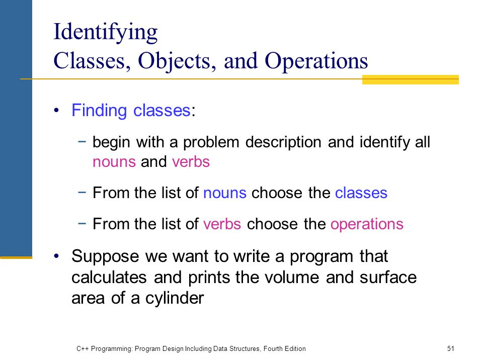 Identifying Classes, Objects, and Operations