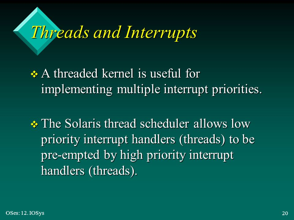 Threads and Interrupts