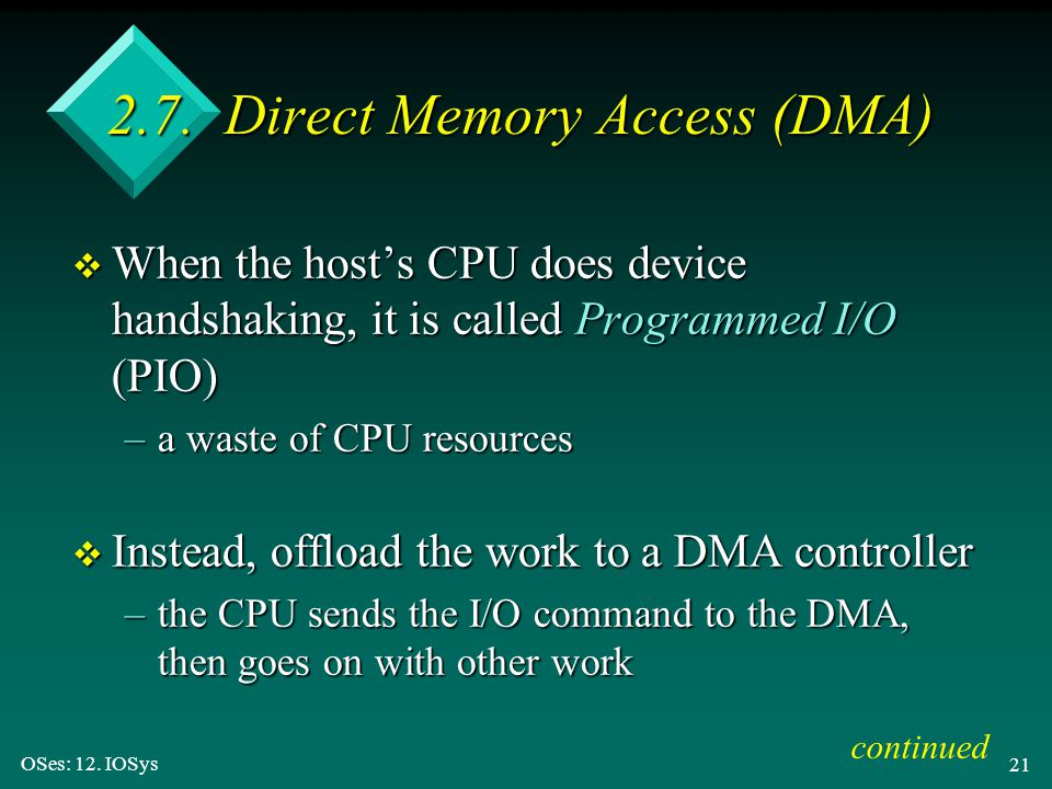 2.7. Direct Memory Access (DMA)