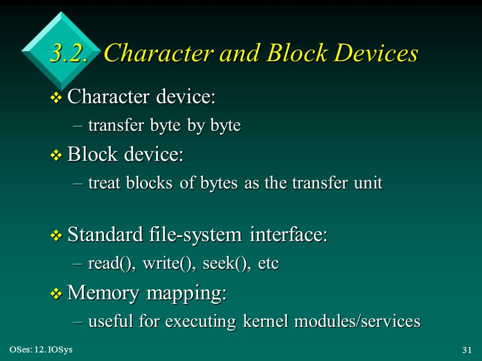 3.2. Character and Block Devices