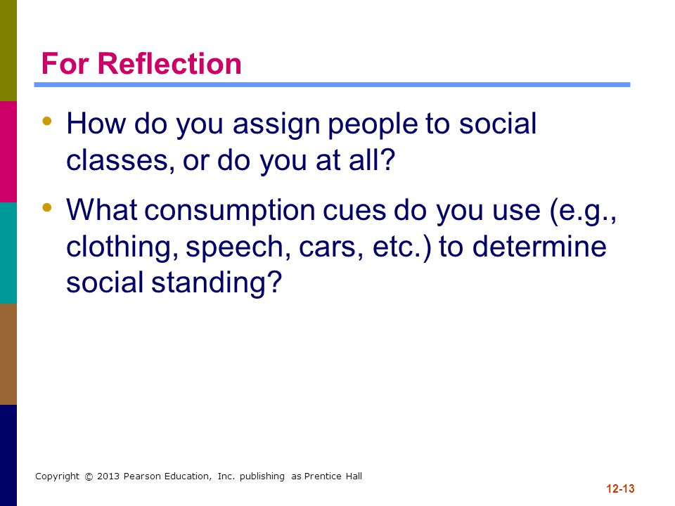 How do you assign people to social classes, or do you at all