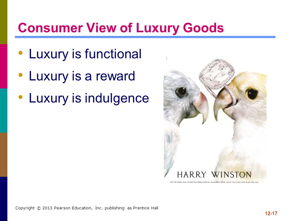 Consumer View of Luxury Goods