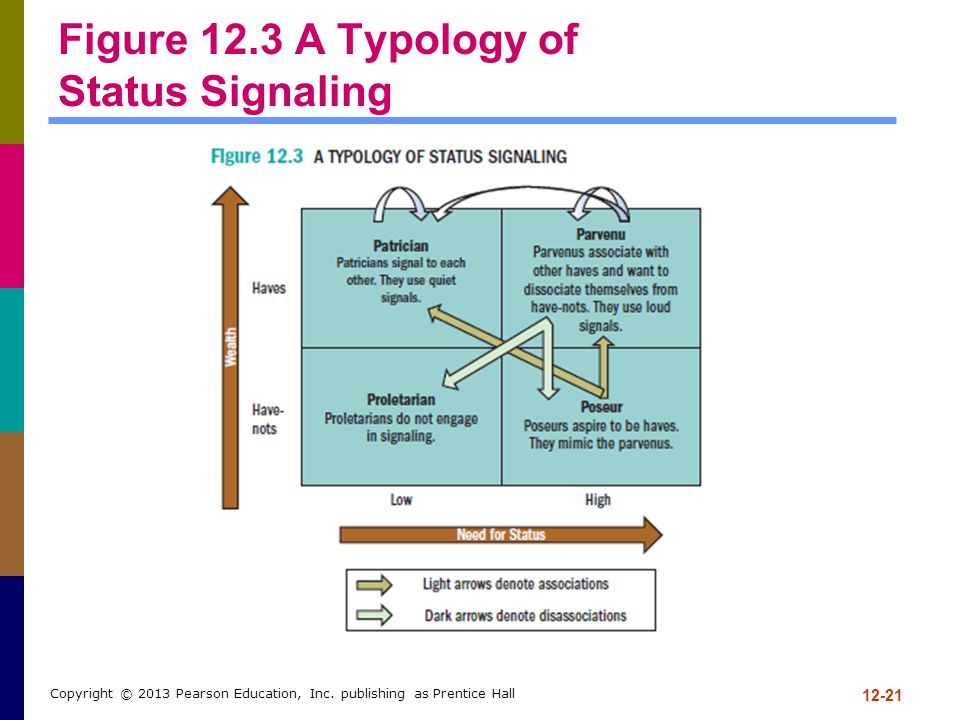 Figure 12.3 A Typology of Status Signaling