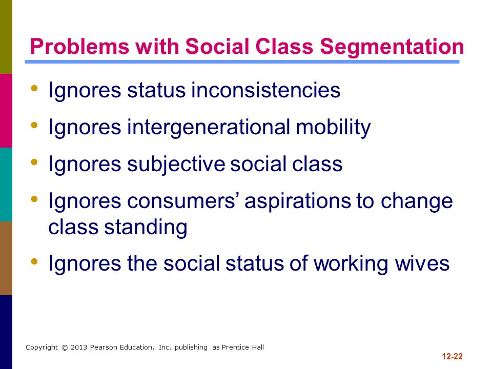 Problems with Social Class Segmentation