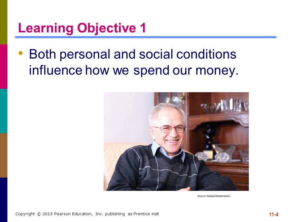 Both personal and social conditions influence how we spend our money.
