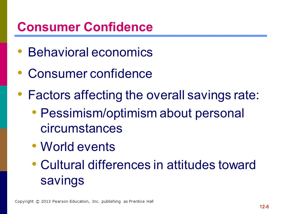 Factors affecting the overall savings rate: