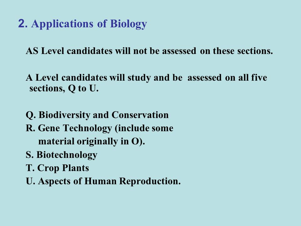 2. Applications of Biology