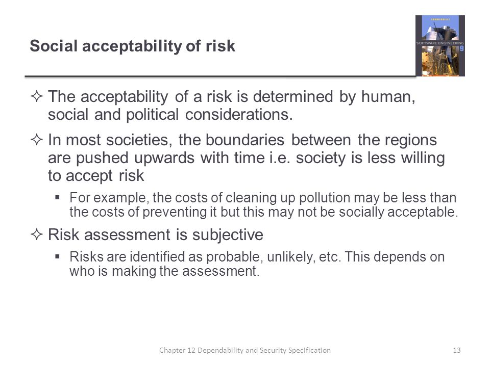 Social acceptability of risk