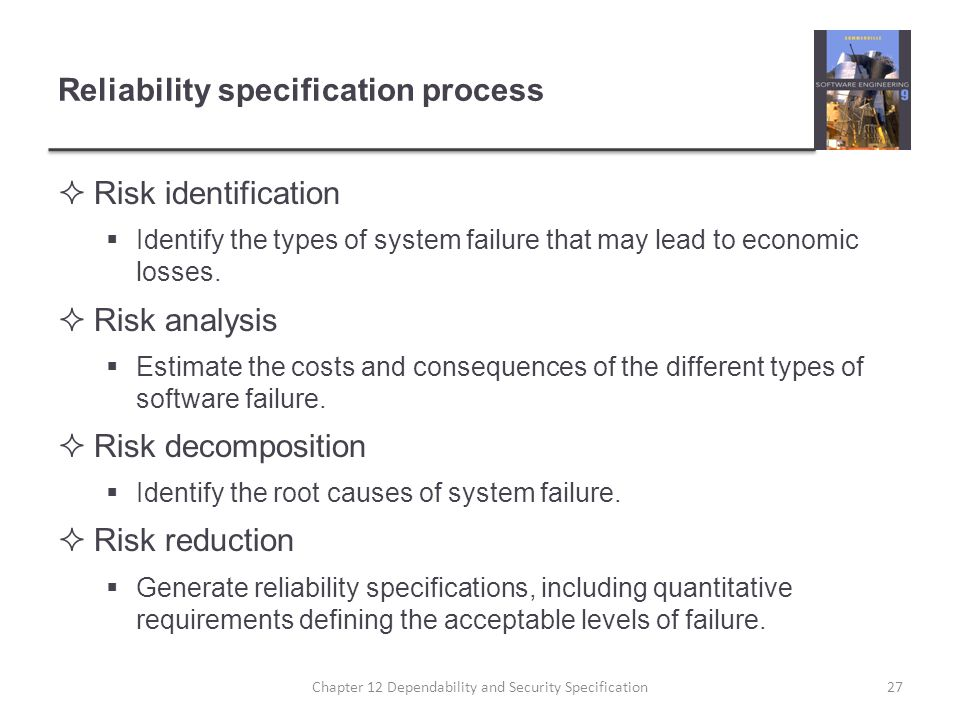 Reliability specification process