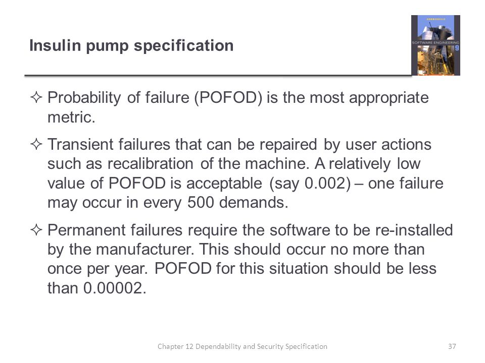 Insulin pump specification