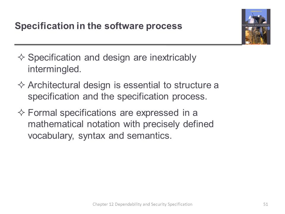 Specification in the software process
