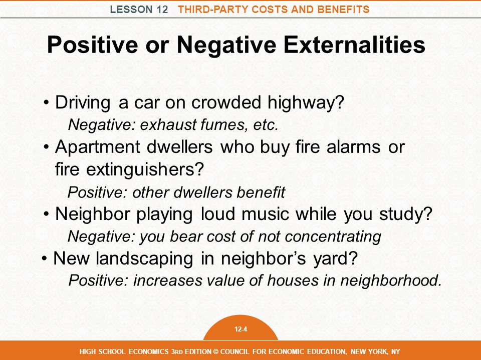Positive or Negative Externalities