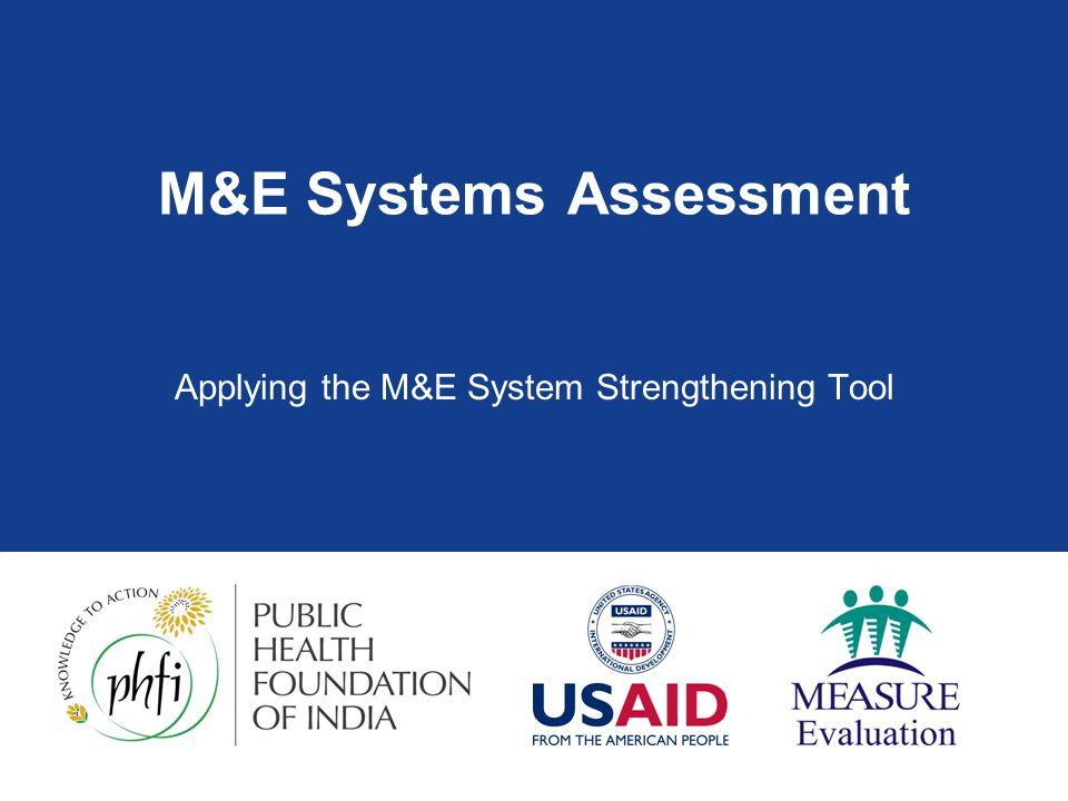 M&E Systems Assessment
