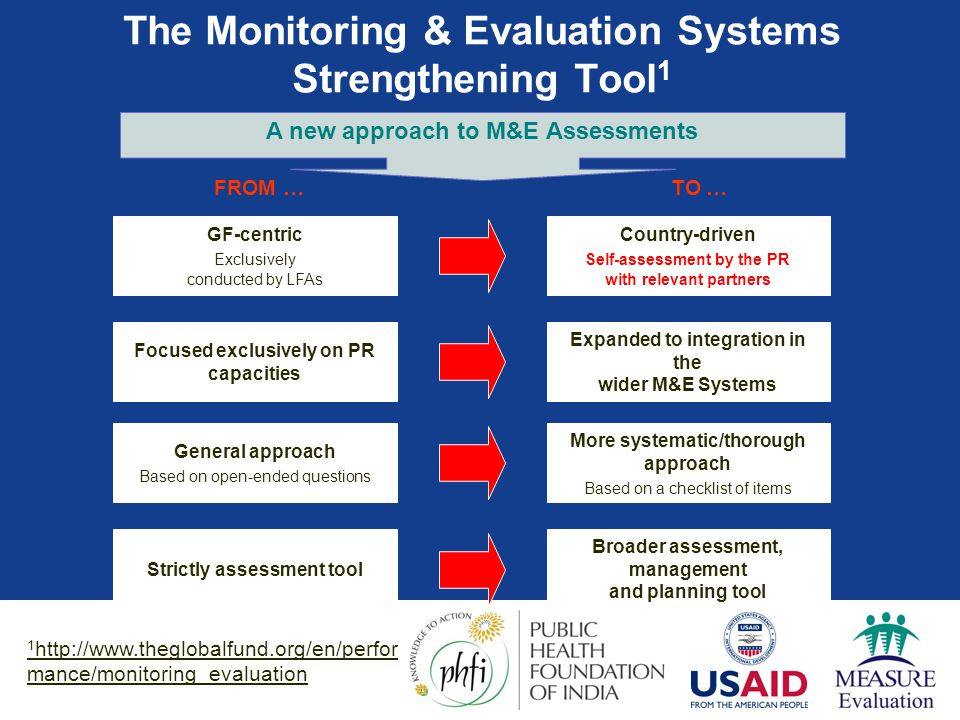 The Monitoring & Evaluation Systems Strengthening Tool1
