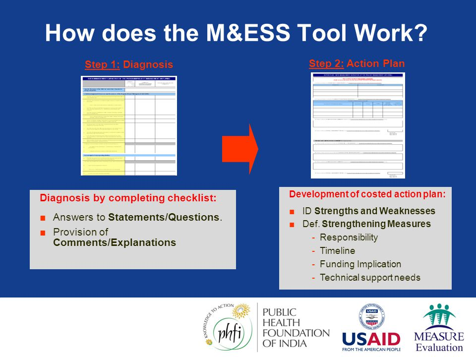 How does the M&ESS Tool Work