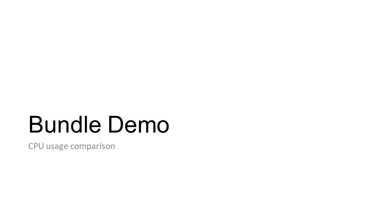Bundle Demo CPU usage comparison