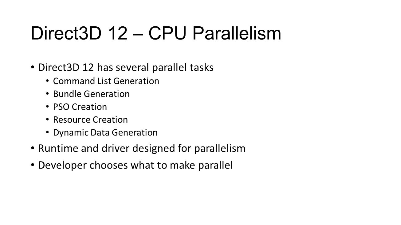 Direct3D 12 – CPU Parallelism