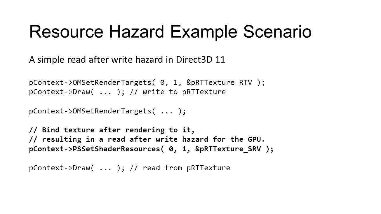 Resource Hazard Example Scenario