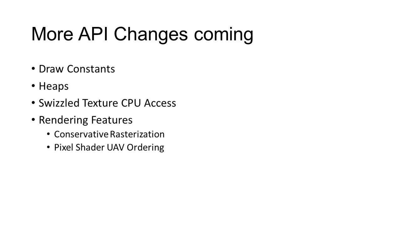 More API Changes coming