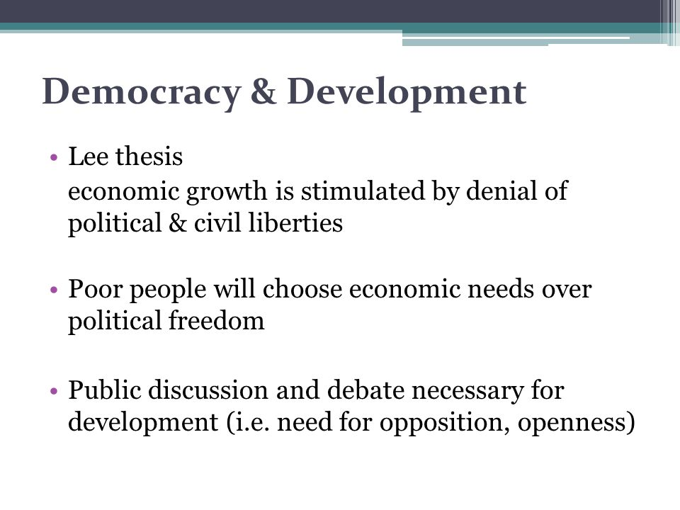 Democracy & Development