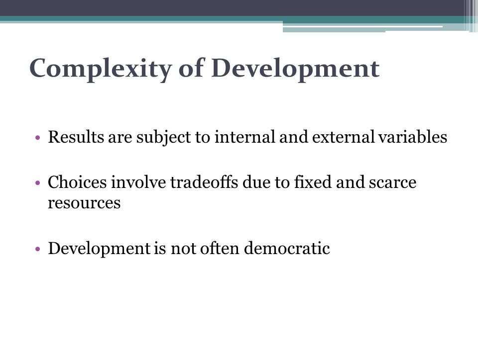 Complexity of Development