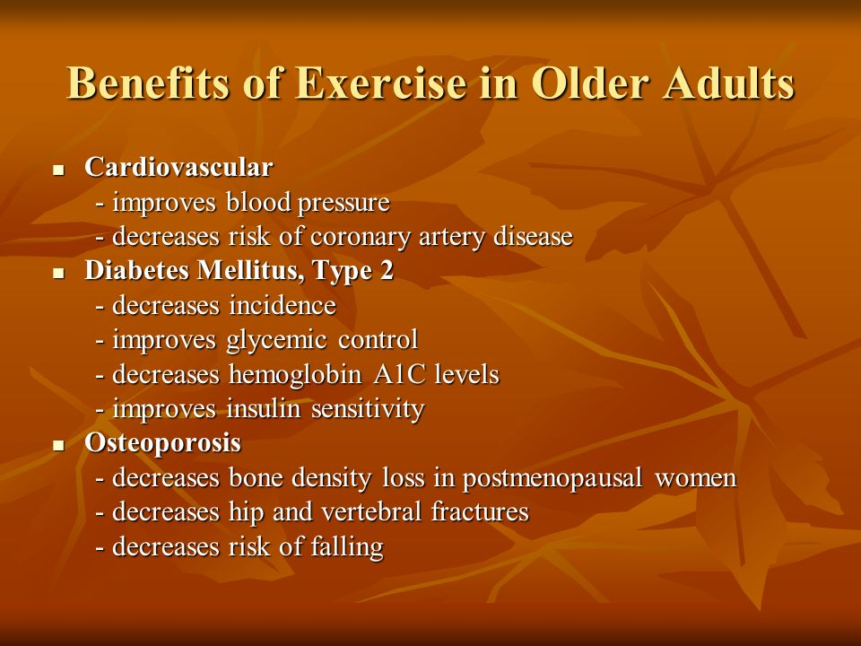 Benefits of Exercise in Older Adults