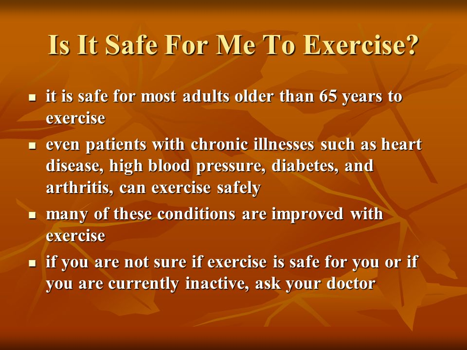 Is It Safe For Me To Exercise
