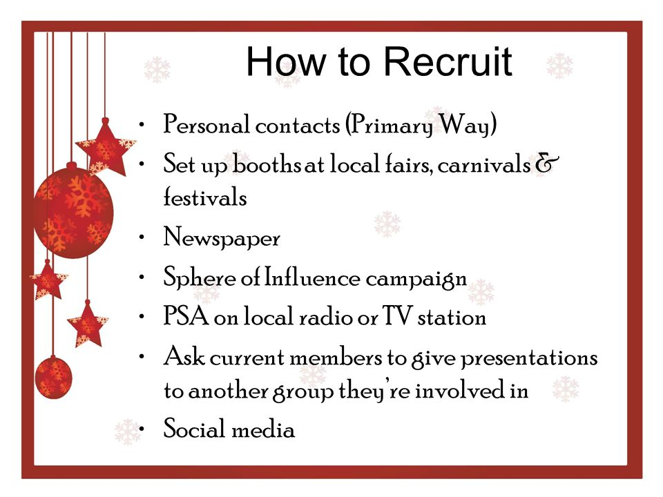 How to Recruit Personal contacts (Primary Way)