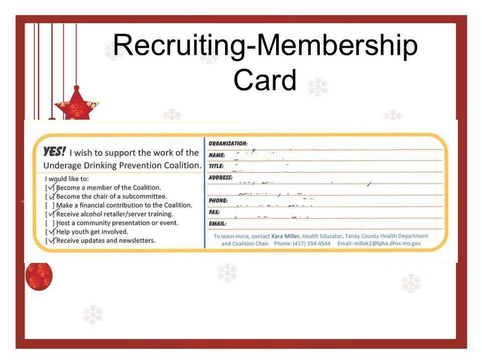 Recruiting-Membership Card