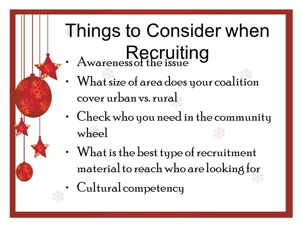 Things to Consider when Recruiting