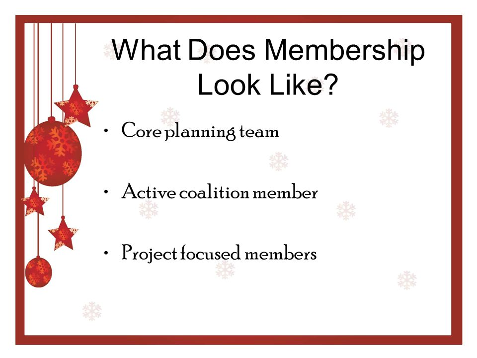 What Does Membership Look Like