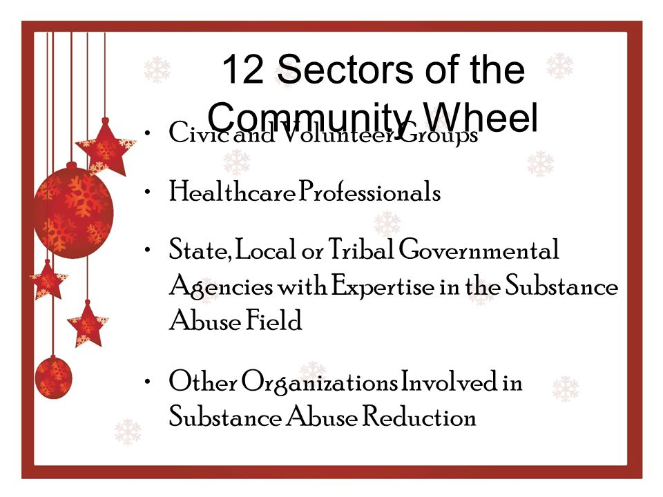 12 Sectors of the Community Wheel