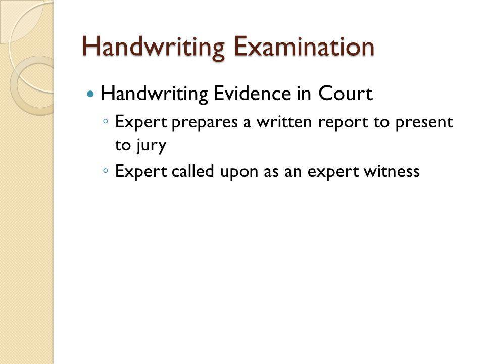 Handwriting Examination
