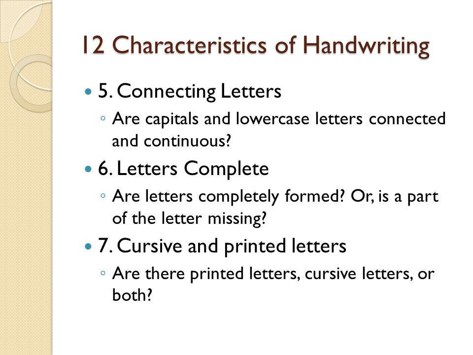 12 Handwriting Characteristics | Pen | Optics