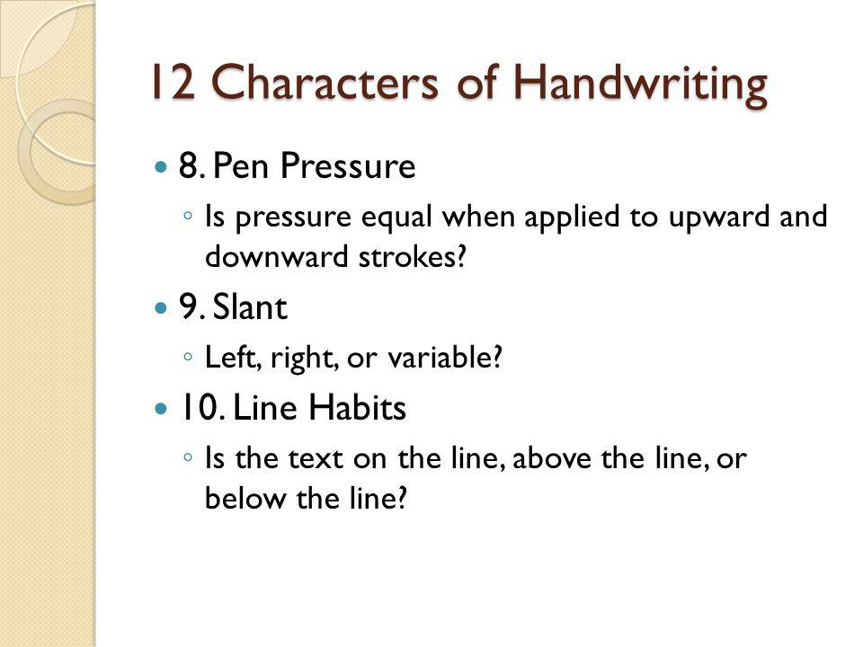 12 Characters of Handwriting
