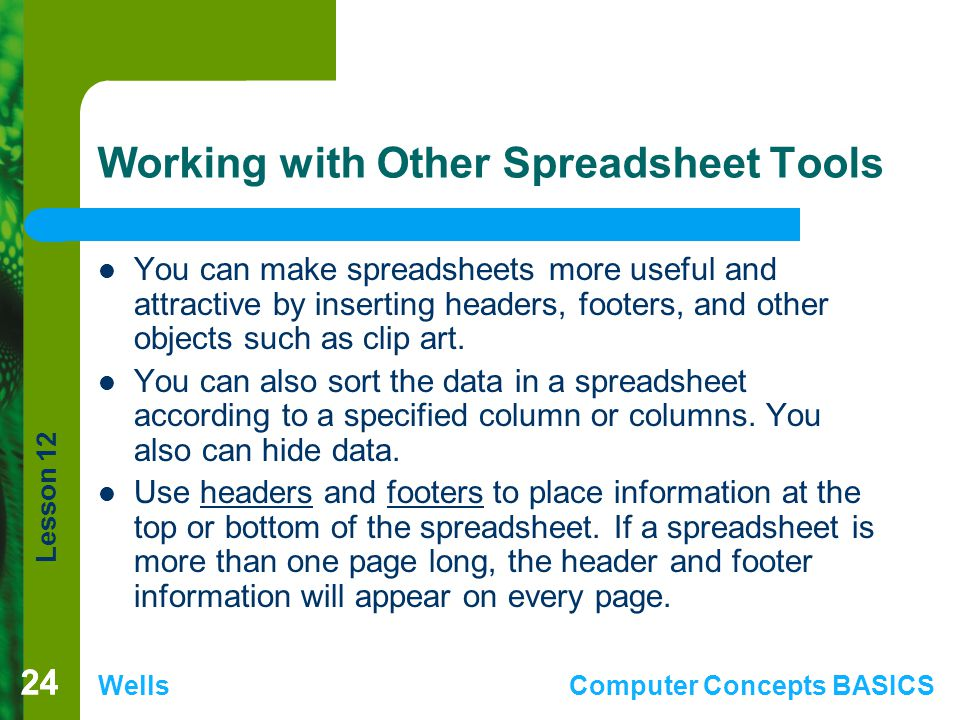 Working with Other Spreadsheet Tools