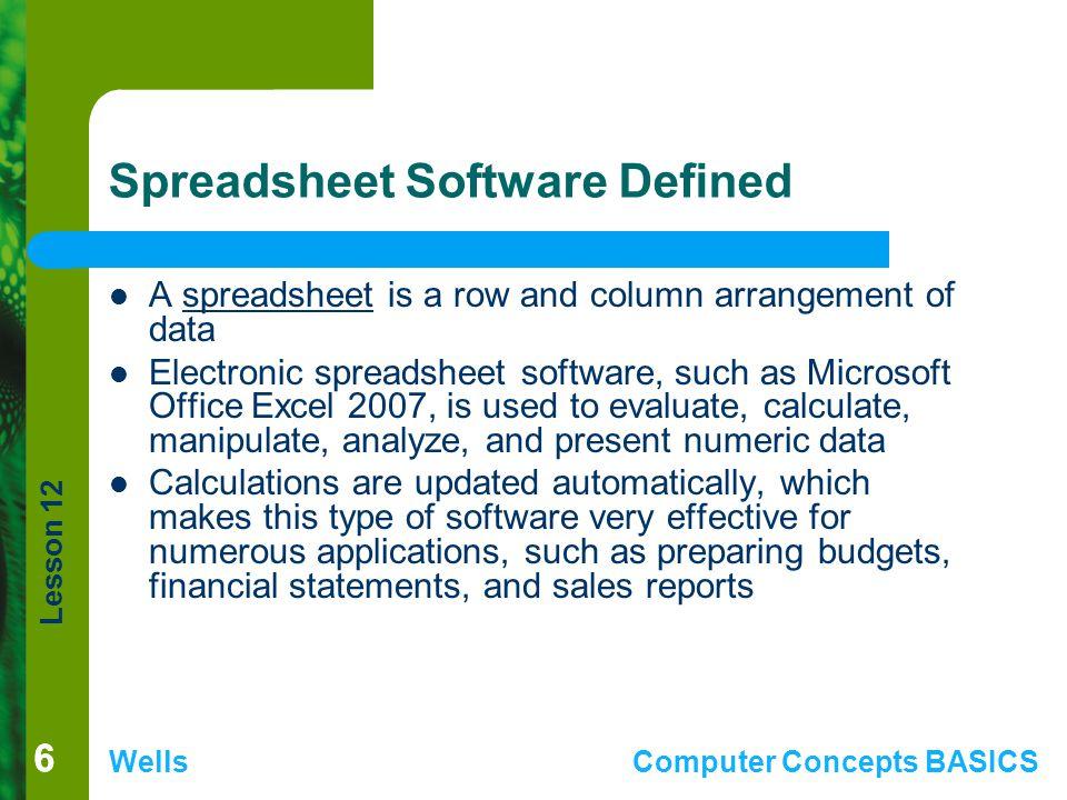 Spreadsheet Software Defined