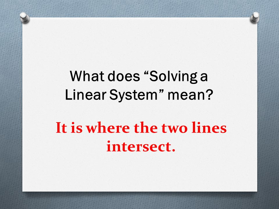 It is where the two lines intersect.