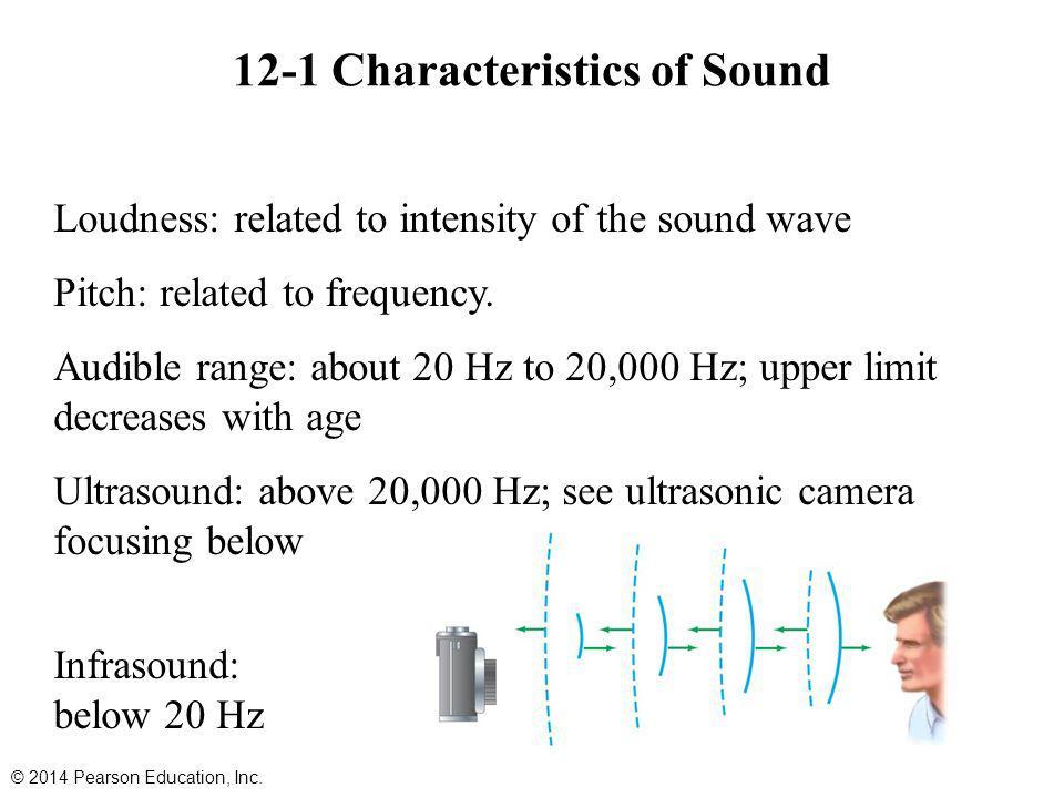 12-1 Characteristics of Sound