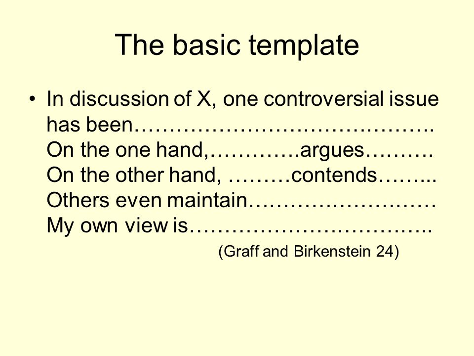 The basic template